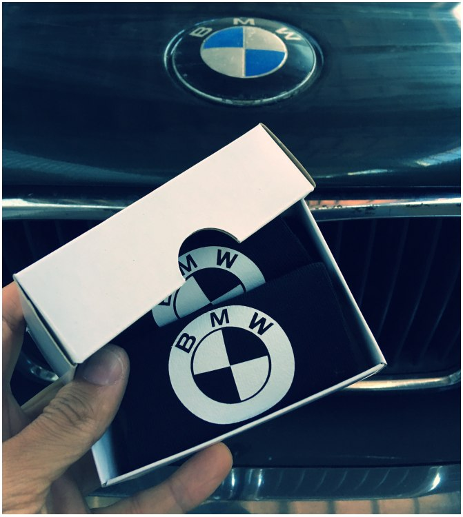 BMW kojinės su dėžute