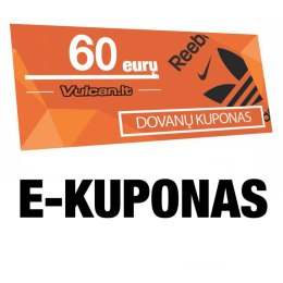 60 € e-kuponas per 1 val.