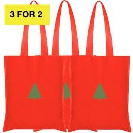 3X Christmas medžiaginiai krepšiai 42x38cm